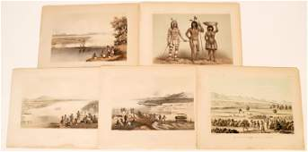 Lithographs from an Early Railroad Survey Mojave