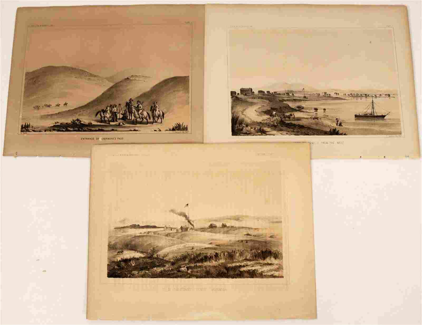 Northern California Lithographs from an Early Railroad