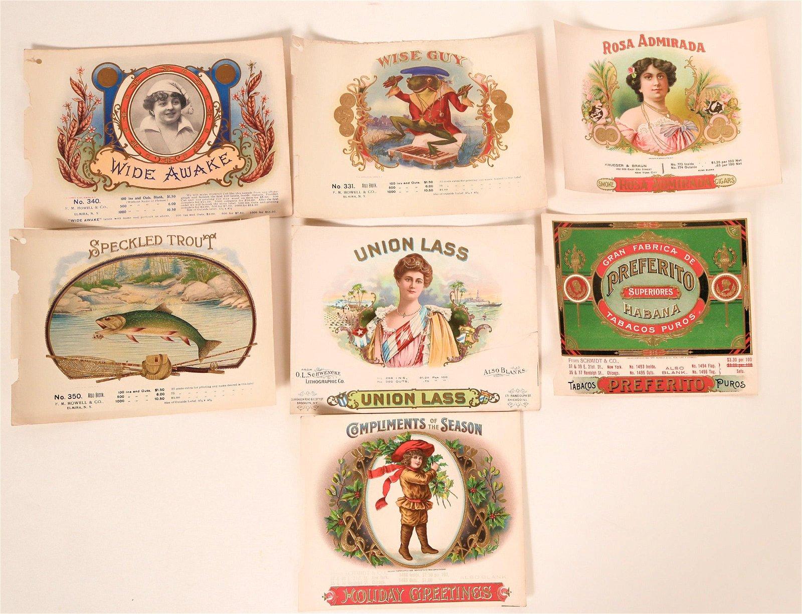 Cigar Box Labels  (119342)