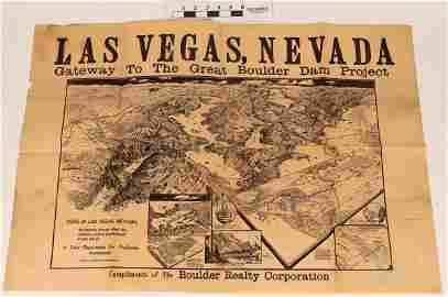 Original Broadside for the Opening of Hoover Dam