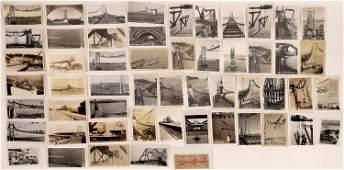 San Francisco Oakland Bay Bridge Construction Post Card