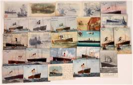 White Star  Red Star Shipping Lines Ad Cards  126529