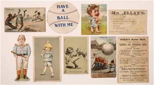 Victorian Era Baseball Advertising Ephemera & Cards