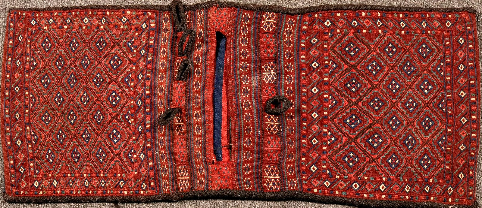 Turkish/Afghan  Double Sided Wool Woven Saddle Bag