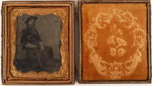 Custer Original Tintype by Brady in Case, 1865