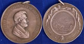 Lincoln Silver Peace Medal, Julian 39, Prucha 51,