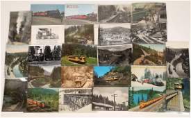 Various California Railroad Postcards  25  128927