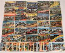 US East-Central Large-Letter Postcards ~ 71 pcs
