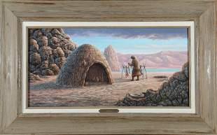 """Wm. A. Moore Oil, """"Sainobi"""" Framed Painting 87601"""