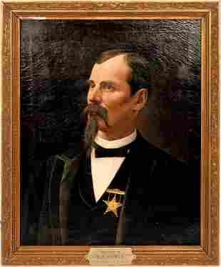 Franz Dvorak Oil Painting by Jos. Klir, 1892 [57755]