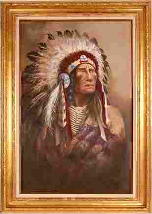 Chief Strong Wind Painting by Hanson [120810]