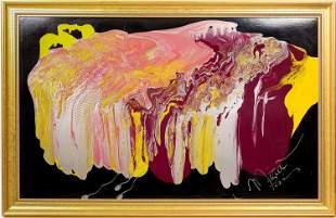 Mira Paris Signed Artwork, Acrylic, Framed [131940]