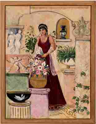 """Oil Painting """"The Goddess"""" By Terri Brody Elenzweig"""