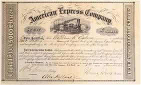 American Express Stock Certificate #481, Period 1,