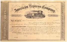 American Express Stock Certificate, Henry Wells