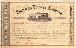 American Express Stock Certificate Signed by John