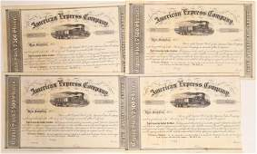 Four Unissued American Express Stock Certificates from