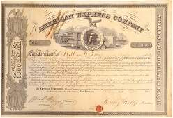 American Express stock certificate issued to William G