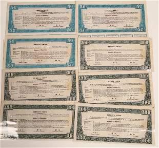 Higher Denomination Chinese Liberty Bonds Circa 1937