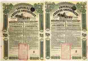 Imperial Chinese Government Gold Loan of 1908 Bonds