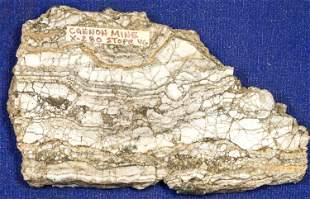 Gold Ore Slab, Cannon Mine, Wenatchee, Washington