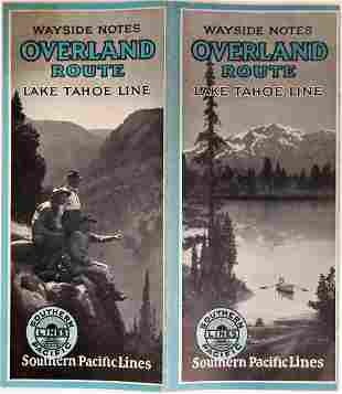 Lake Tahoe Line (railroad), Overland Route Pamphlet