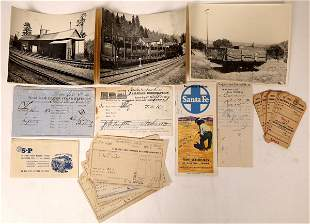Railroad Photos and Ephemera From Early Calif  [129905]