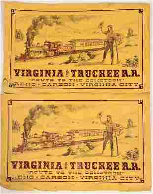 Virginia & Truckee Railroad Poster by the Railroadians