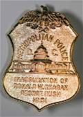 Ronald Reagan Inaugural Police Badge [132238]