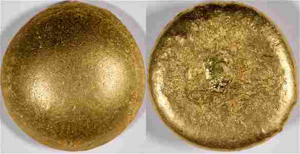 Gold Button (ingot) from Downieville Placer Gold