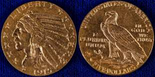 $5 Indian Head Half Eagle - 1915  [132533]