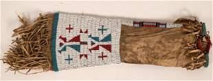 Plains Beaded Peace Pipe Bag [119993]