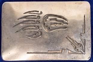Hopi Silver Belt Buckle [132795]