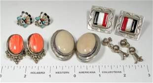 Five Pairs Native American Earrings [135329]