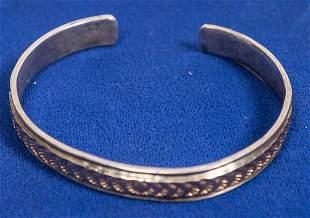 Gold and Silver Navajo Cuff [133867]