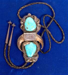 Incredible Navajo Turquoise Bolo  [132784]