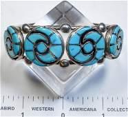 Annie Quam Gasper Inlaid Zuni Turquoise Bracelet
