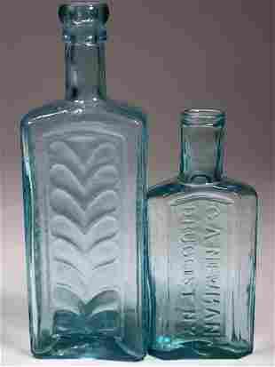 Scarce New York Open Pontil Medicine Bottles (2 Each)