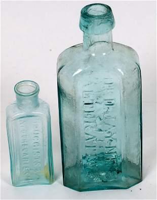 Rare Open Pontil Philadelphia Medical Bottles (2 Each)