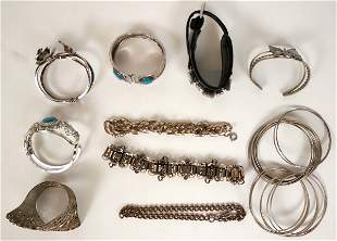 Vintage costume jewelry bracelets and more (lot 59)