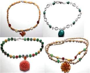 Vintage costume jewelry pierced earrings (lot 5)