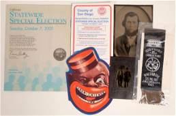 Miscellaneous Americana: RR Ribbon, Old Photos, Etc.