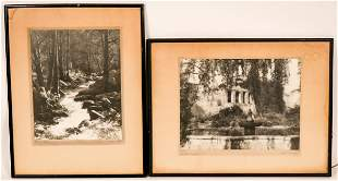 Two B/W Photographs by Alfred Evans  [116733]