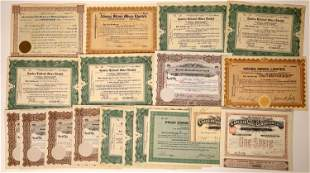 Canadian Mining Stock Certificates (19)  [129556]