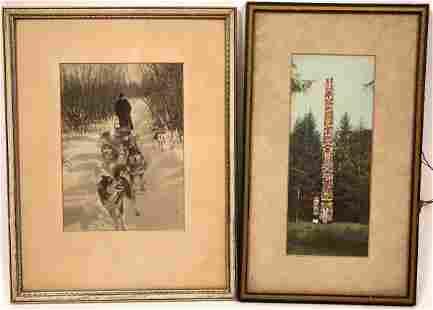 Handcolored Early Alaska Photographs Pair [138995]