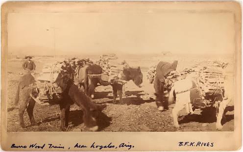 Burro Wood Train Cabinet Photograph [137352]