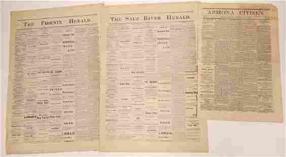 A Trio of Arizona Territory Newspapers (3) [136026]