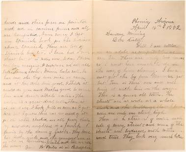 Letter About a Stagecoach Ride in Arizona Territory