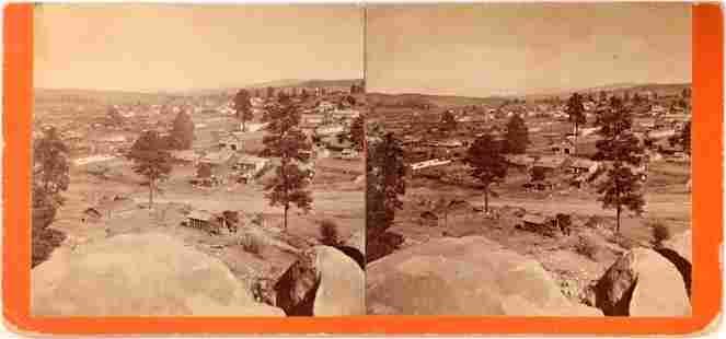 Stereoview of Prescott Arizona Territory by George