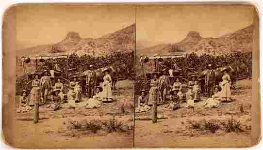 Stereoview of Stagecoach Travelers at Rest [137348]